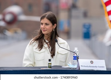 NEW YORK, NY- MAY 25: Michaela Kennedy-Cuomo attends the Intrepid Sea, Air & Space Museum's virtual Memorial Day commemoration ceremony on May 25, 2020 in New York City.