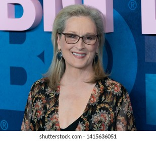 New York, NY - May 29, 2019: Meryl Streep wearing dress by Oscar de la Renta attends HBO Big Little Lies Season 2 Premiere at Jazz at Lincoln Center