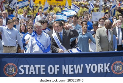 NEW YORK, NY - MAY 31, 2015: New York State Governor Andrew Cuomo attends Celebrate Israel Parade on 5th avenue in Manhattan