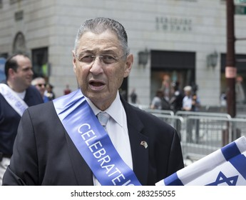 NEW YORK, NY - MAY 31, 2015: Disgraced politician Sheldon Silver attends Celebrate Israel Parade on 5th avenue in Manhattan