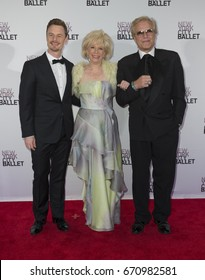 New York, NY - May 4, 2016: Christopher Wheeldon, Lesley Stahl, Peter Martins attend 2016 New York City Ballet Spring Gala at Lincoln Center