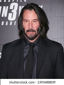 "New York, NY - May 9, 2019: Keanu Reeves attends the ""John Wick: Chapter 3"" world premiere at One Hanson Place"