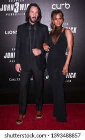 "New York, NY - May 9, 2019: Keanu Reeves and Halle Berry attend the ""John Wick: Chapter 3"" world premiere at One Hanson Place"
