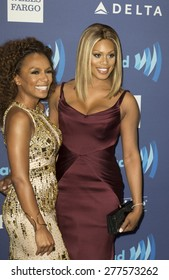 New York, NY - May 9, 2015: Janet Mock and Laverne Cox attends 26th Annual GLAAD Media Awards at Waldorf Astoria