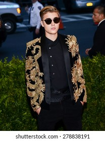 New York, NY  Monday May 04, 2015: Justin Bieber attends 'China: Through The Looking Glass' Costume Institute Gala, held at the Metropolitan Museum of Art in New York City, New York.