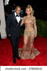 New York, NY  Monday May 04, 2015: Jay Z aka Sean Carter and Beyonce Knowles attend 'China: Through The Looking Glass' Costume Institute Gala, held at the Metropolitan Museum of Art.