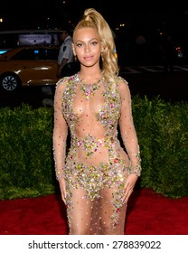 New York, NY  Monday May 04, 2015: Beyonce Knowles attends 'China: Through The Looking Glass' Costume Institute Gala, held at the Metropolitan Museum of Art in New York City, New York.