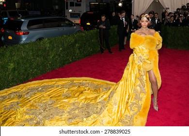 New York, NY  Monday May 04, 2015: Rihanna attends 'China: Through The Looking Glass' Costume Institute Gala, held at the Metropolitan Museum of Art in New York City, New York.