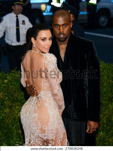 New York, NY  Monday May 04, 2015: Kim Kardashian and Kanye West attend 'China: Through The Looking Glass' Costume Institute Gala, held at the Metropolitan Museum of Art in New York City, New York.
