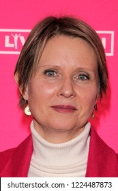 NEW YORK, NY - NOVEMBER 04: Cynthia Nixon (C) and guests attend KIDZ BOP Live at Beacon Theatre on November 4, 2018 in New York City.