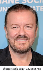 NEW YORK, NY - NOVEMBER 09: Honoree Ricky Gervais attends The Humane Society's 9th Annual to the Rescue! Gala at Cipriani 42nd Street on November 9, 2018 in New York City.