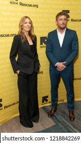 New York, NY - November 1, 2018: Kathryn Bigelow and Patrick Milling-Smith attend the 2018 IRC Rescue Dinner at New York Hilton Midtown