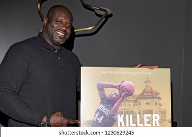 "NEW YORK, NY - NOVEMBER 12: Shaquille ""Shaq"" O'Neal attends the 'Killer Bees' New York Special Screening at Landmark 57 Theater on November 12, 2018 in New York City."