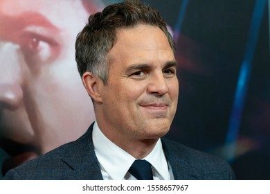 New York, NY - November 12, 2019: Mark Ruffalo attends premiere of Dark Waters at Walter Reade Theater at Lincoln Center