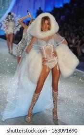 NEW YORK, NY - NOVEMBER 13: Model Doutzen Kroes walks the runway at the 2013 Victoria's Secret Fashion Show at Lexington Avenue Armory on November 13, 2013 in New York City.