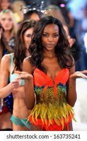 NEW YORK, NY - NOVEMBER 13: Models walk the runway finale at the 2013 Victoria's Secret Fashion Show at Lexington Avenue Armory on November 13, 2013 in New York City.