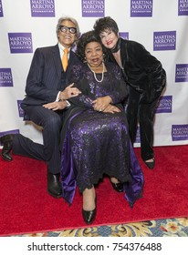 New York, NY - November 13, 2017: Tommy Tune, Martina Arroyo, Chita Rivera attends Martina Arroyo Foundation 2017 Gala at JW Marriott Essex House