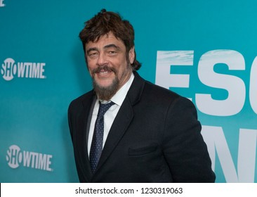 New York, NY - November 14, 2018: Benicio Del Toro attends the Showtime Series Premiere of Escape At Dannemora at Alice Tully Hall Lincoln Center