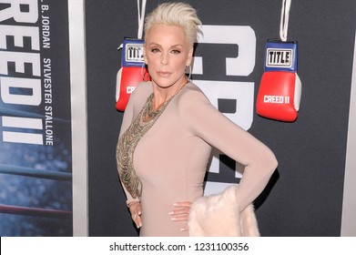 NEW YORK, NY - NOVEMBER 14: Brigitte Nielsen attends 'Creed II' World Premiere at AMC Loews Lincoln Square on November 14, 2018 in New York City.