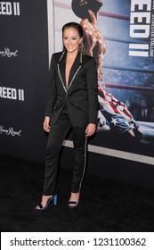 NEW YORK, NY - NOVEMBER 14: Kay Adams attends 'Creed II' World Premiere at AMC Loews Lincoln Square on November 14, 2018 in New York City.
