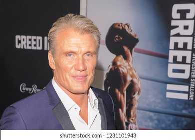 NEW YORK, NY - NOVEMBER 14: Dolph Lundgren attends 'Creed II' World Premiere at AMC Loews Lincoln Square on November 14, 2018 in New York City.