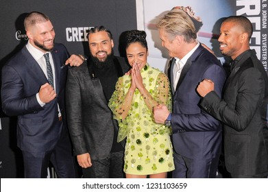 NEW YORK, NY - NOVEMBER 14: The cast of Creed II attend 'Creed II' World Premiere at AMC Loews Lincoln Square on November 14, 2018 in New York City.