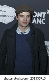 NEW YORK, NY - NOVEMBER 17, 2014: Sebastian Stan attends the 14th Annual The 24 Hour Plays on Broadway to benefit the Urban Arts Partnership After Party at B.B. King Blues Club & Grill