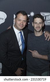 NEW YORK, NY - NOVEMBER 17, 2014: Justin Bartha & Philip Courtney attend the 14th Annual The 24 Hour Plays on Broadway to benefit the Urban Arts Partnership After Party at B.B. King Blues Club & Grill