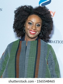 New York, NY - November 19, 2019: Chimamanda Ngozi Adichie attends the annual Make Equality Reality Gala hosted by Equality Now at Capitale