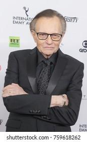 New York, NY - November 20, 2017: Larry King attends 2017 International Emmy Awards at Hilton Hotel