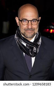 NEW YORK, NY - NOVEMBER 30, 2009: Actor Stanley Tucci poses backstage at IFP's 19th Annual Gotham Independent Film Awards at Cipriani, Wall Street.