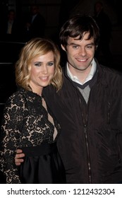 NEW YORK, NY - NOVEMBER 30, 2009: Actress Kristen  Wiig  and actor Bill Hader attends IFP's 19th Annual Gotham Independent Film Awards at Cipriani, Wall Street.