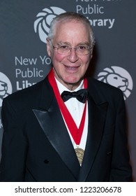 New York, NY - November 5, 2018: Ron Chernow attends the New York Public Library 2018 Library Lions Gala at NYPL Stephen A. Schwarzman Building