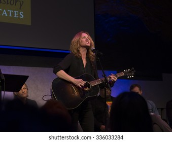 New York, NY - November 5, 2015: Allison Moorer performs during Voices of a People's History at David Rubenstein Atrium Lincoln Center