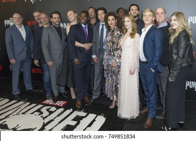 New York, NY - November 6, 2017: Cast attends Netflix premiere The Punisher by Marvel at AMC Loews 34th street
