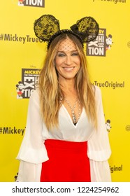 New York, NY - November 7, 2018: Sarah Jessica Parker attends Mickey: The True Original Exhibition Grand Opening on 60 10th avenue