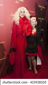 New York, NY - November 7, 2014: Sherry Vine and Tracy Von Legge attend Indochine 30th Anniversary Party at Indochine Manhattan