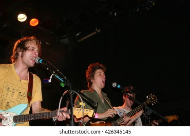 NEW YORK NY: OCT 22, 2009:  Singer John Joseph McCauley of the rock group Deer Tick as they perform at The Bowery Ballroom durning the CMJ Music Marathon supporting their album Born on Flag Day