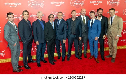 New York, NY - October 11, 2018: Male cast attends Amazon Prime Premiere of The Romanoffs at Russian Tea Room