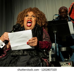 New York, NY - October 13, 2018: Roberta Flack speaks during tribute at Loft Party A Night for the Soul for Jazz Foundation of America at Hudson Studios