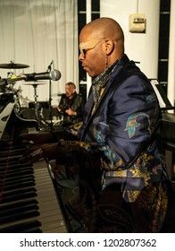 New York, NY - October 13, 2018: Davell Crawford performs at Loft Party A Night for the Soul for Jazz Foundation of America at Hudson Studios