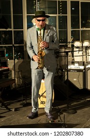 New York, NY - October 13, 2018: Gary Bartz performs with Pocket Science quartet at Loft Party A Night for the Soul for Jazz Foundation of America at Hudson Studios