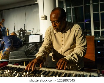 New York, NY - October 13, 2018: Jeff Young performs at Loft Party A Night for the Soul for Jazz Foundation of America at Hudson Studios