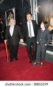 """NEW YORK, NY - OCTOBER 13: Author Maurice Sendak (L), Director Spike Jonze (C) and Actor Max Records (R)  attends the """"Where the Wild Things Are"""" premier on October 13, 2009 in New York City."""