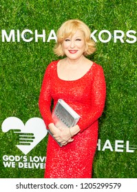 New York, NY - October 16, 2018: Bette Midler attends God's Love We Deliver, Golden Heart Awards at Spring Studios