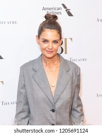 New York, NY - October 17, 2018: Katie Holmes wearing dress by Prada attends American Ballet Theatre Fall Gala at David Koch Theater Lincoln Center