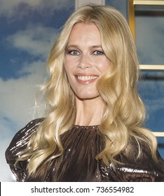 NEW YORK, NY - October 17, 2017: Supermodel Claudia Schiffer attends the Claudia Schiffer For Aquazzura Launch at Saks Fifth Avenue
