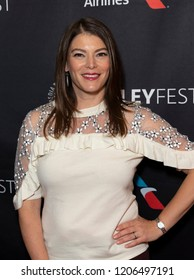 New York, NY - October 18, 2018: Judge of TV series Top Chef Gail Simmons attends presentation at Paley Center for Media