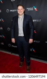 New York, NY - October 18, 2018: Winner of TV series Top Chef Season 15 Joe Flamm attends presentation at Paley Center for Media