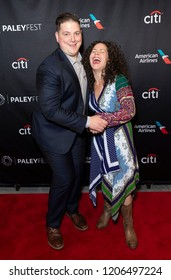 New York, NY - October 18, 2018: Winners of TV series Top Chef season 15 Joe Flamm and Stephanie Izard attend presentation at Paley Center for Media
